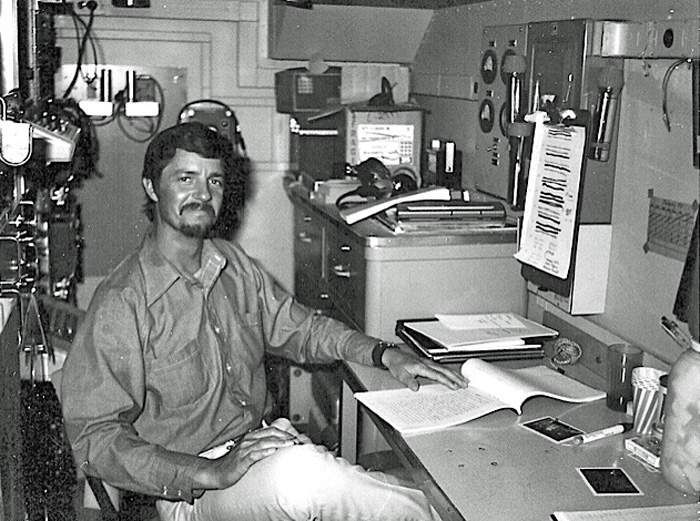 Dave Sharp, pictured aboard the Hughes Glomar Explorer