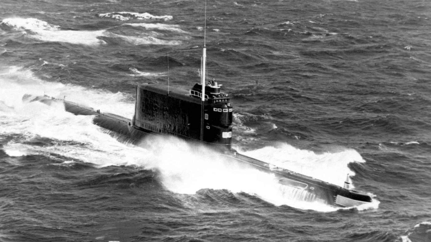 A Soviet submarine of the same class as K-129