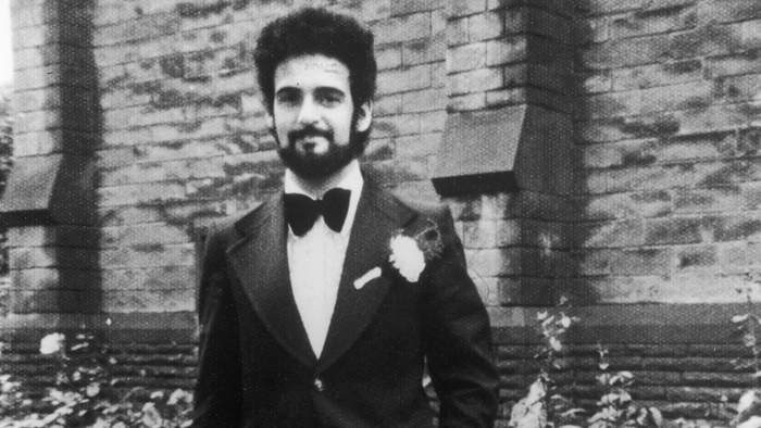British serial killer Peter Sutcliffe, 'The Yorkshire Ripper', on his wedding day