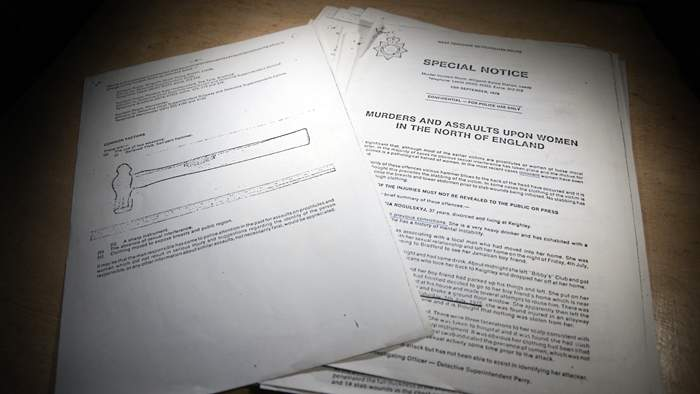 Joan Smith's copy of the dossier compiled by West Yorkshire Police