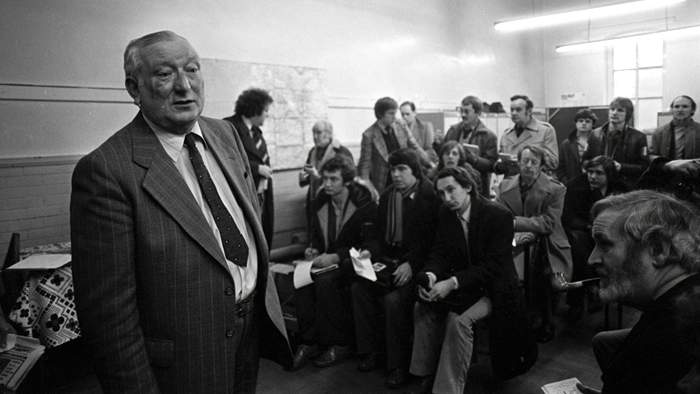 Asst Chief Constable George Oldfield holds a Press Conference in November 1980