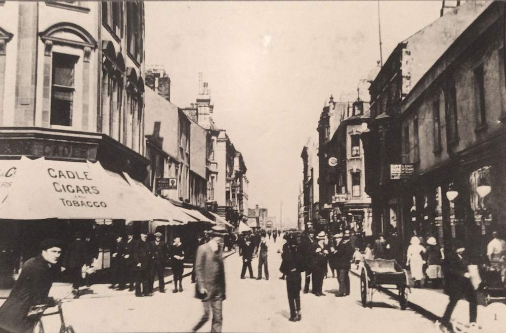 James Street, the beating heart of Cardiff docks, in the early 1900s