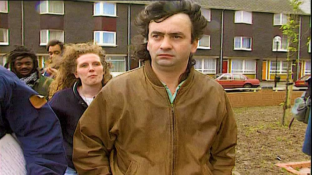 Gerry Conlon, who spent 15 years in prison after he was wrongly convicted of the IRA Guildford pub bombing, arrives in Butetown