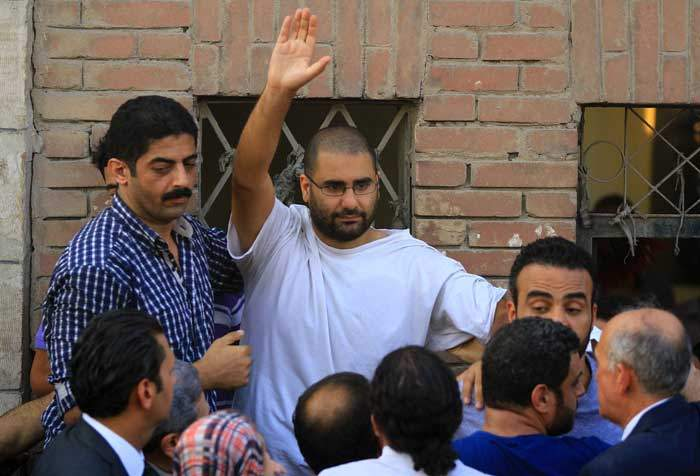 Alaa was temporarily released in 2014 to attend his father's funeral