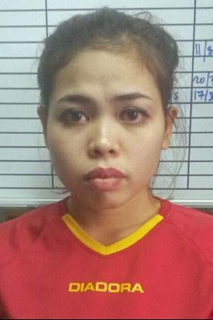 Siti Aisyah, pictured after her arrest for the murder of Kim Jong-nam