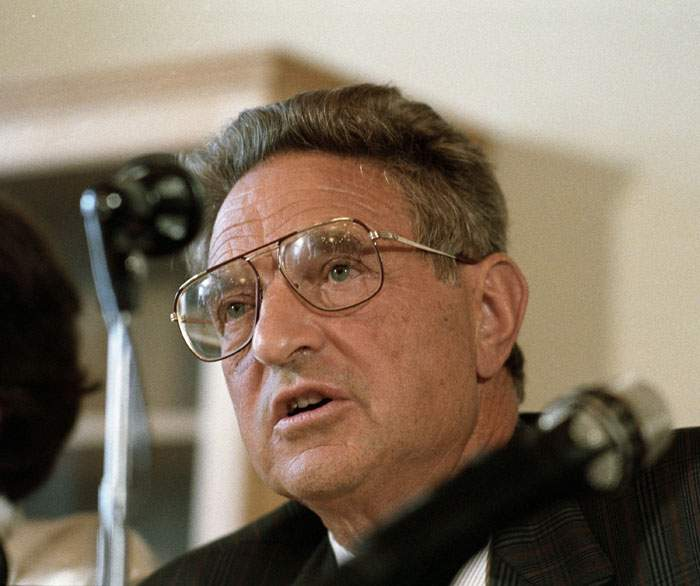 George Soros, pictured in 1991