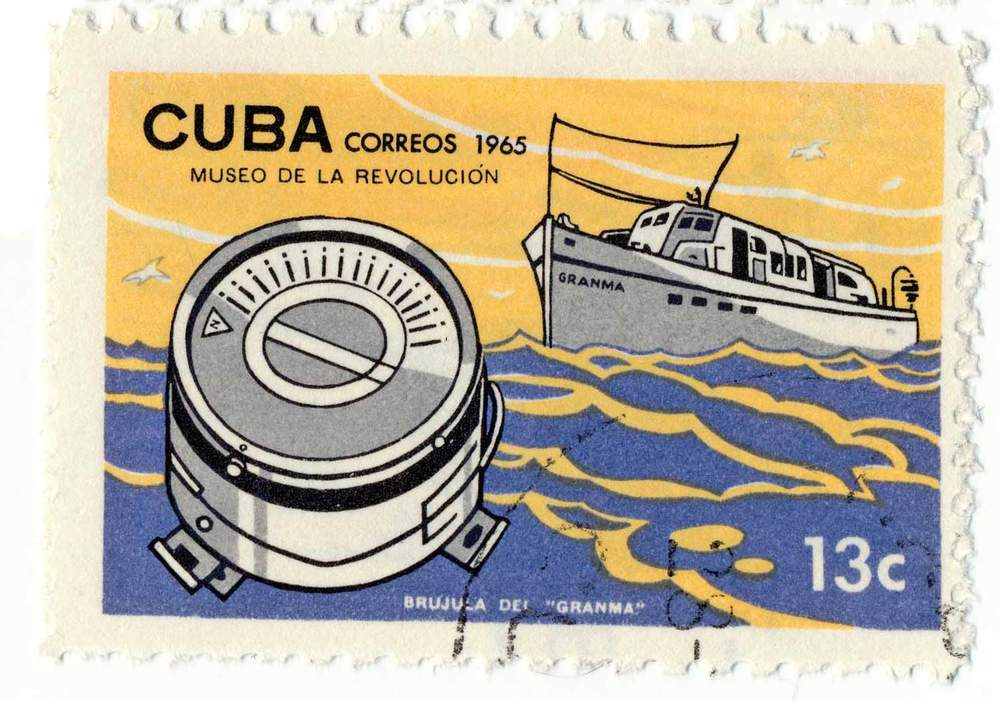 A Cuban postage stamp celebrates the Granma's voyage
