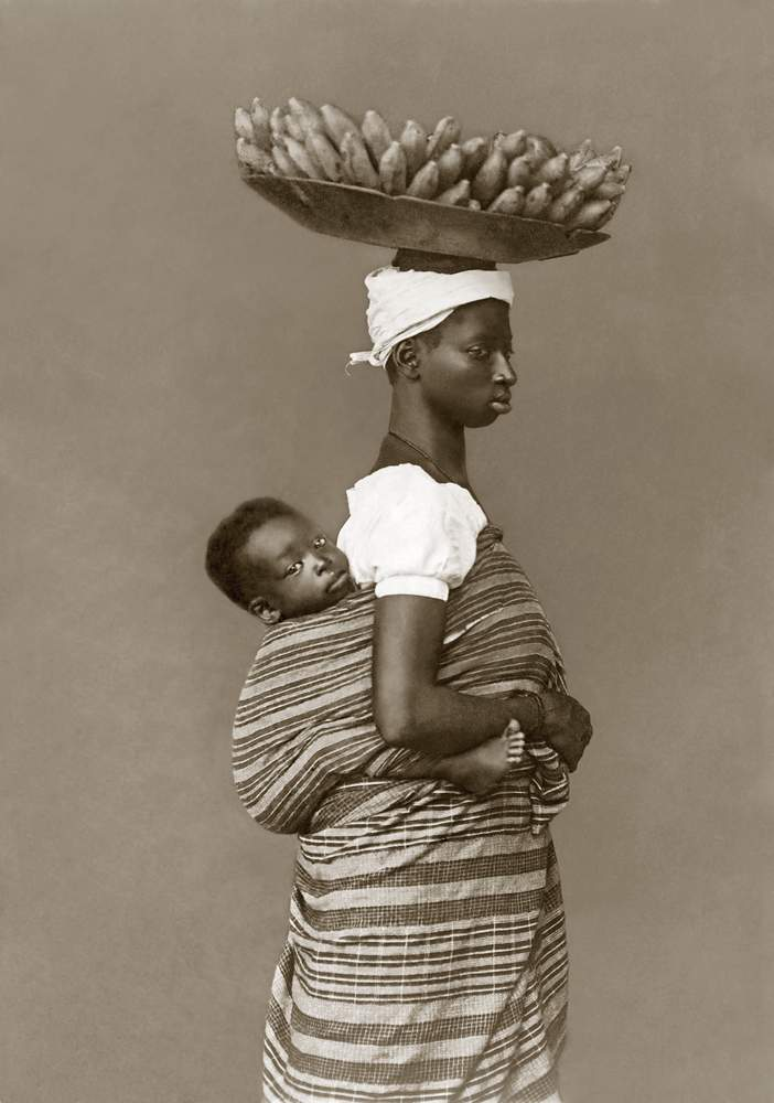 Negra com seu filho, c.1884 - Salvador, BahiaMarc Ferrez \/ Acervo Instituto Moreira Salles