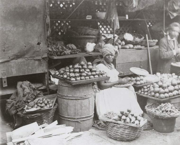 Mulher no mercado, 1880-1890New York Public Library