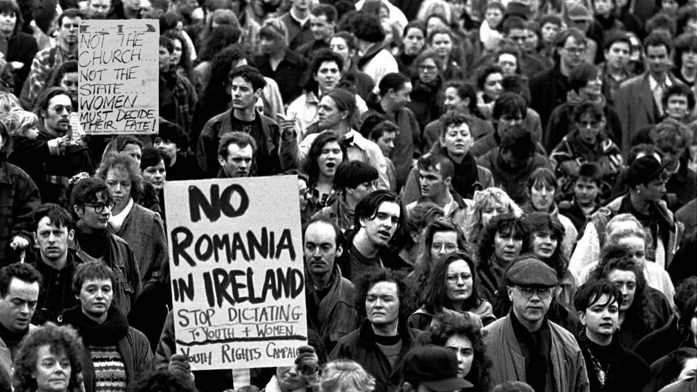 1992 A Pro Choice Rally In Response To The Miss X Case