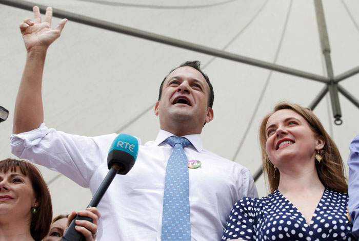Leo Varadkar speaking in Dublin after the referendum result