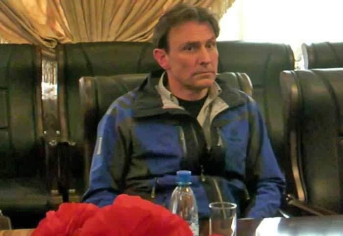 روبرت وينغفيلد هايز وهو محتجز في بيونغيانغ