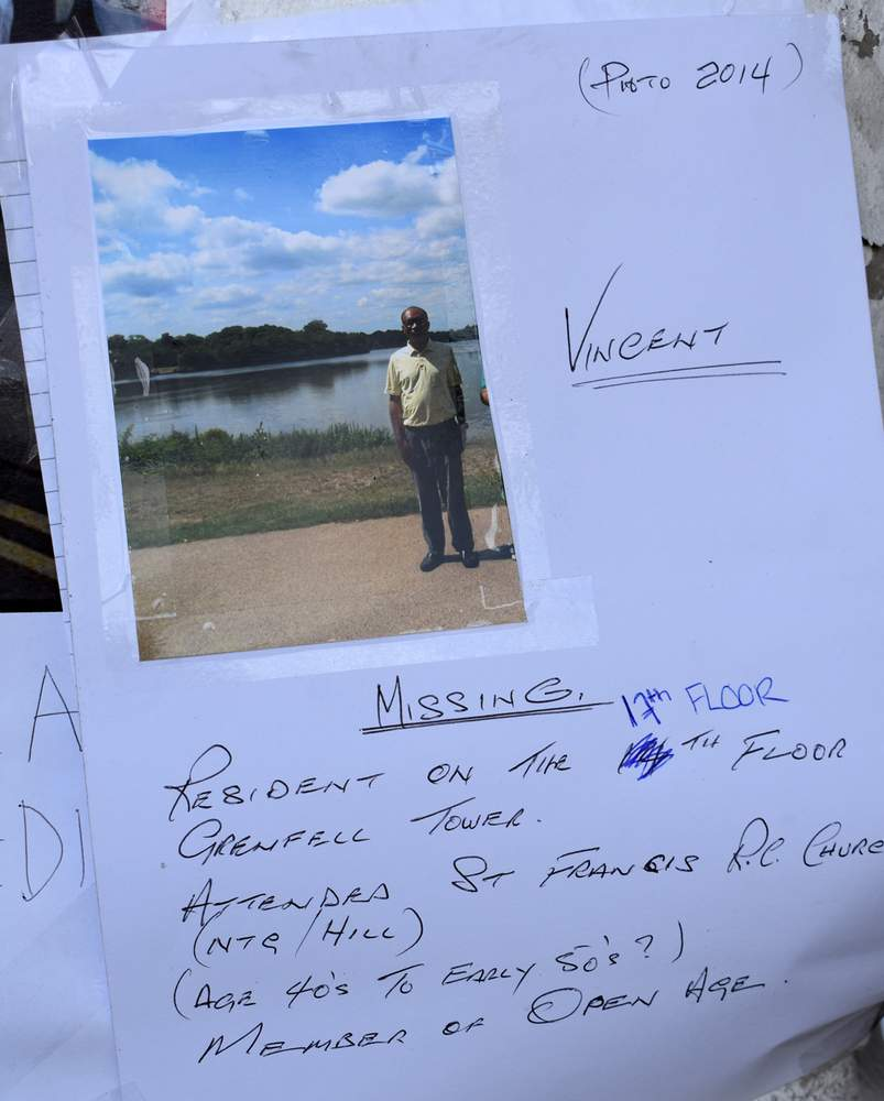 Missing poster: Vincent Chiejina