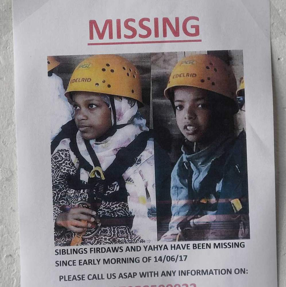 Missing poster: Firdaws and Yahya