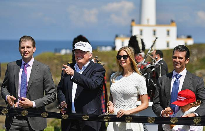 A family affair: Trump Turnberry is opened in 2016
