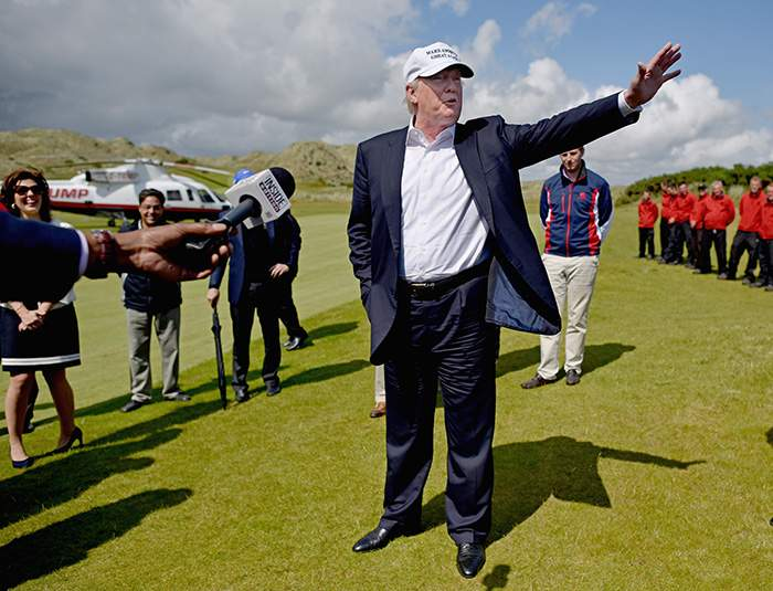 A flying visit to Aberdeenshire during the US presidential campaign