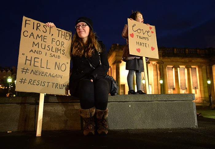 Trump's travel ban brought protests to Edinburgh in 2017