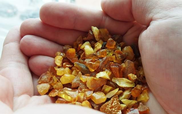 کهربا یکی از سوغاتیهای کالینینگراد است.