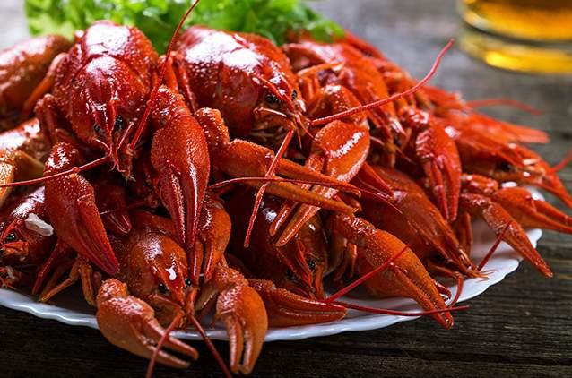 خرچنگ بخارپز شده از جمله غذاهای محبوب ولگاگراد است