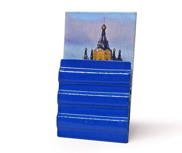 """یکی از نمادهای غیررسمی نیژنی """"حفاظ آبی"""" است که نزدیک به ۱۰ سال است دور ساختمانی در این شهر کشیده شده است."""