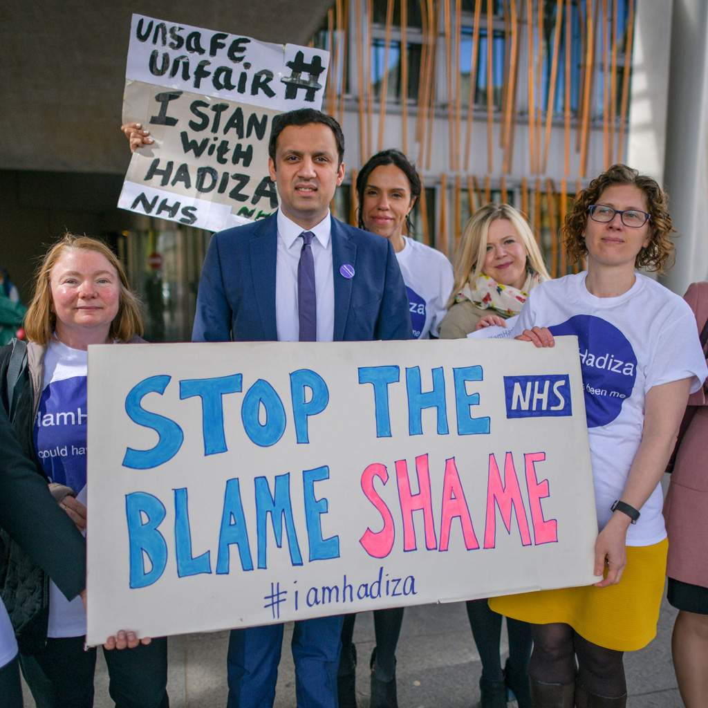 Doctors protesting in Scotland