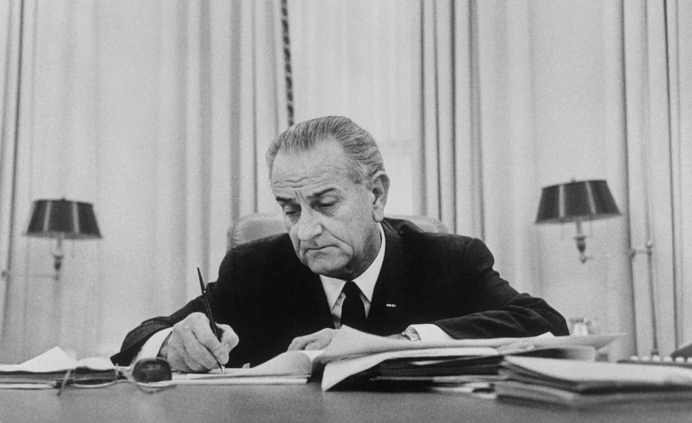 US president Lyndon B. Johnson had to be persuaded by Wood to sign off on the channel