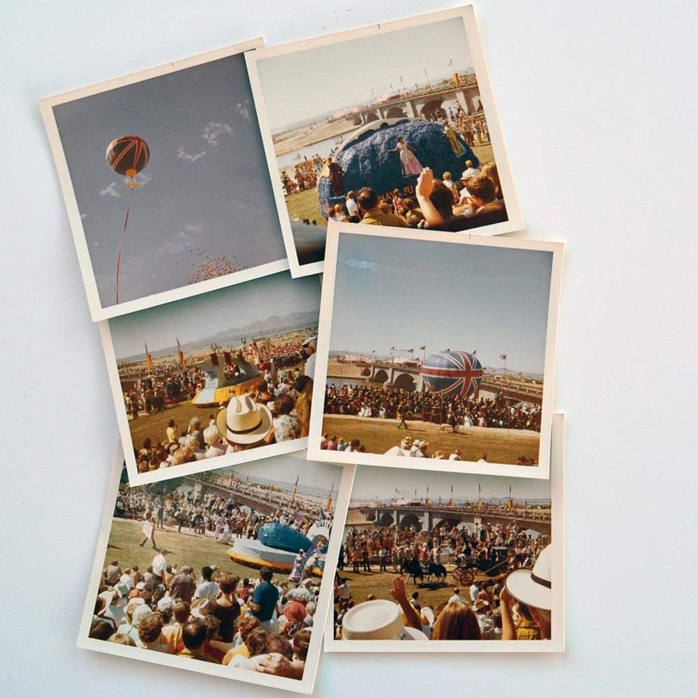 Rick Kingsbury's Polaroids showed the scale of the event