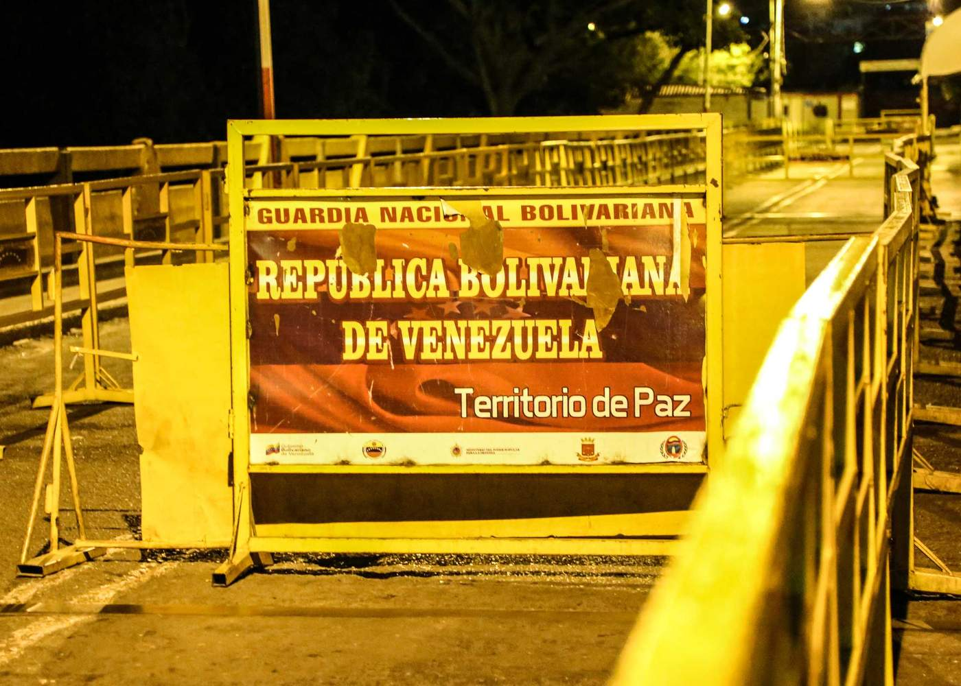 """The sign reads """"Territorio de Paz"""" or Territory of Peace."""