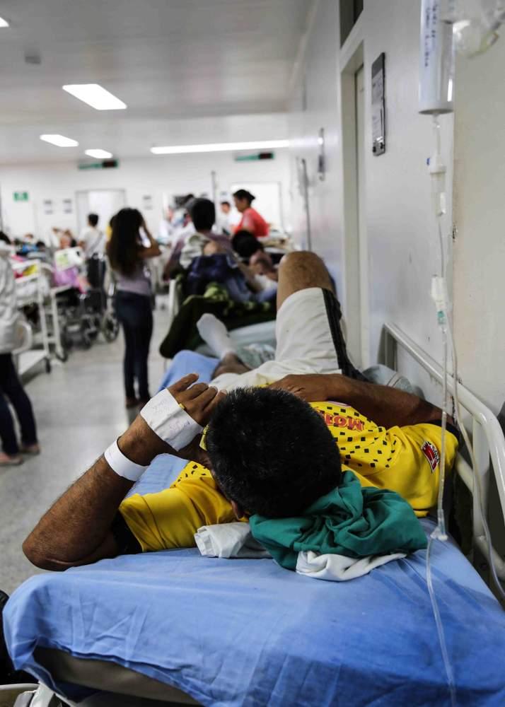 Un paciente espera para ser operado.
