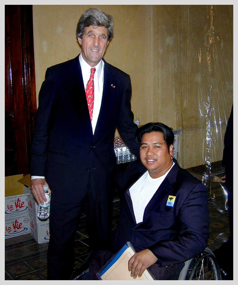 Senator John Kerry with Tuy
