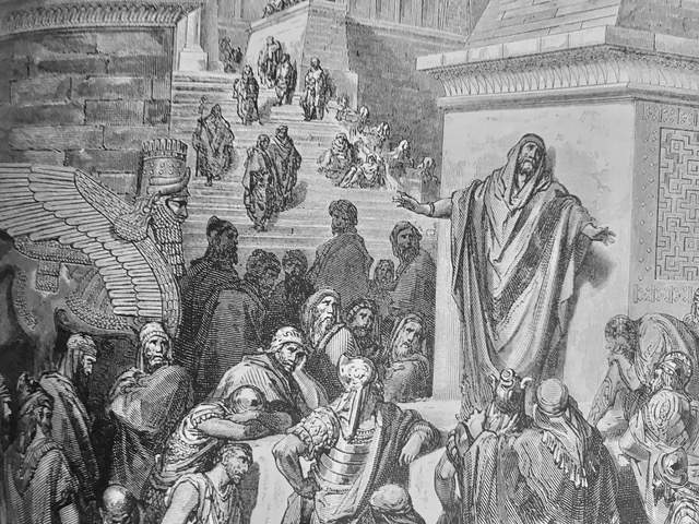 Engraving from Gustave Doré's illustrated Bible (1886)