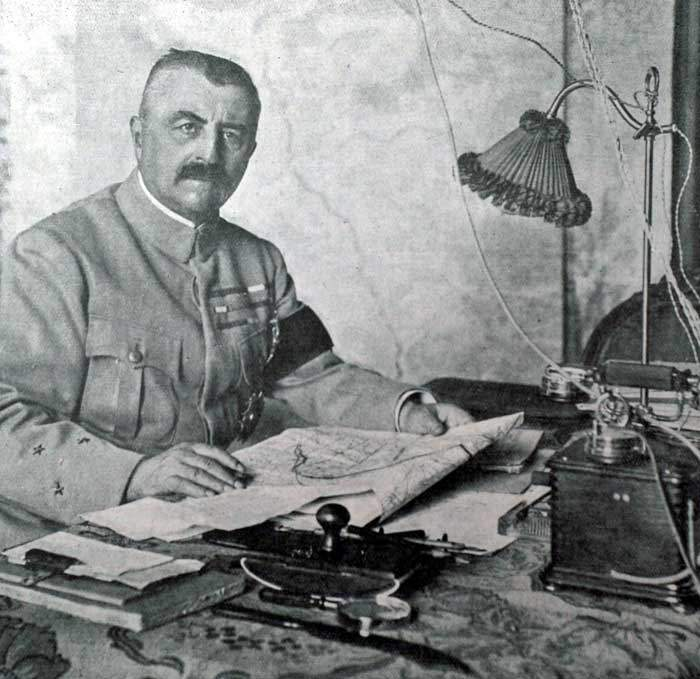 General Franchet d'Esperey, the French commander in Macedonia, launched the decisive attack in 1918