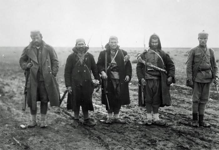 Serbian soldiers on the Balkan front