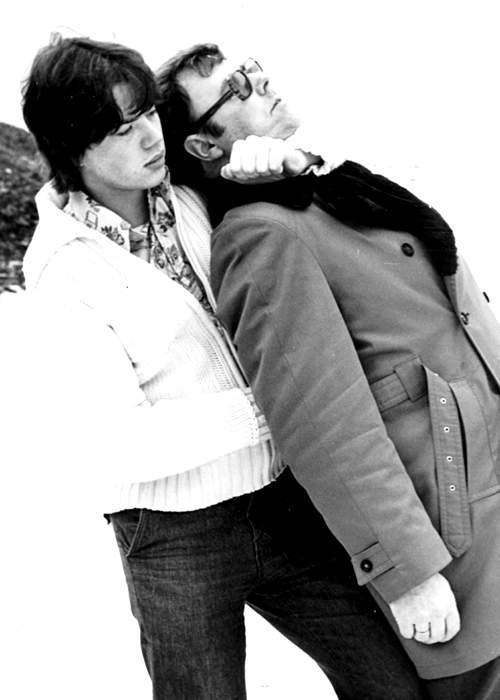 Kristjan Vidarsson with a detective, 1976
