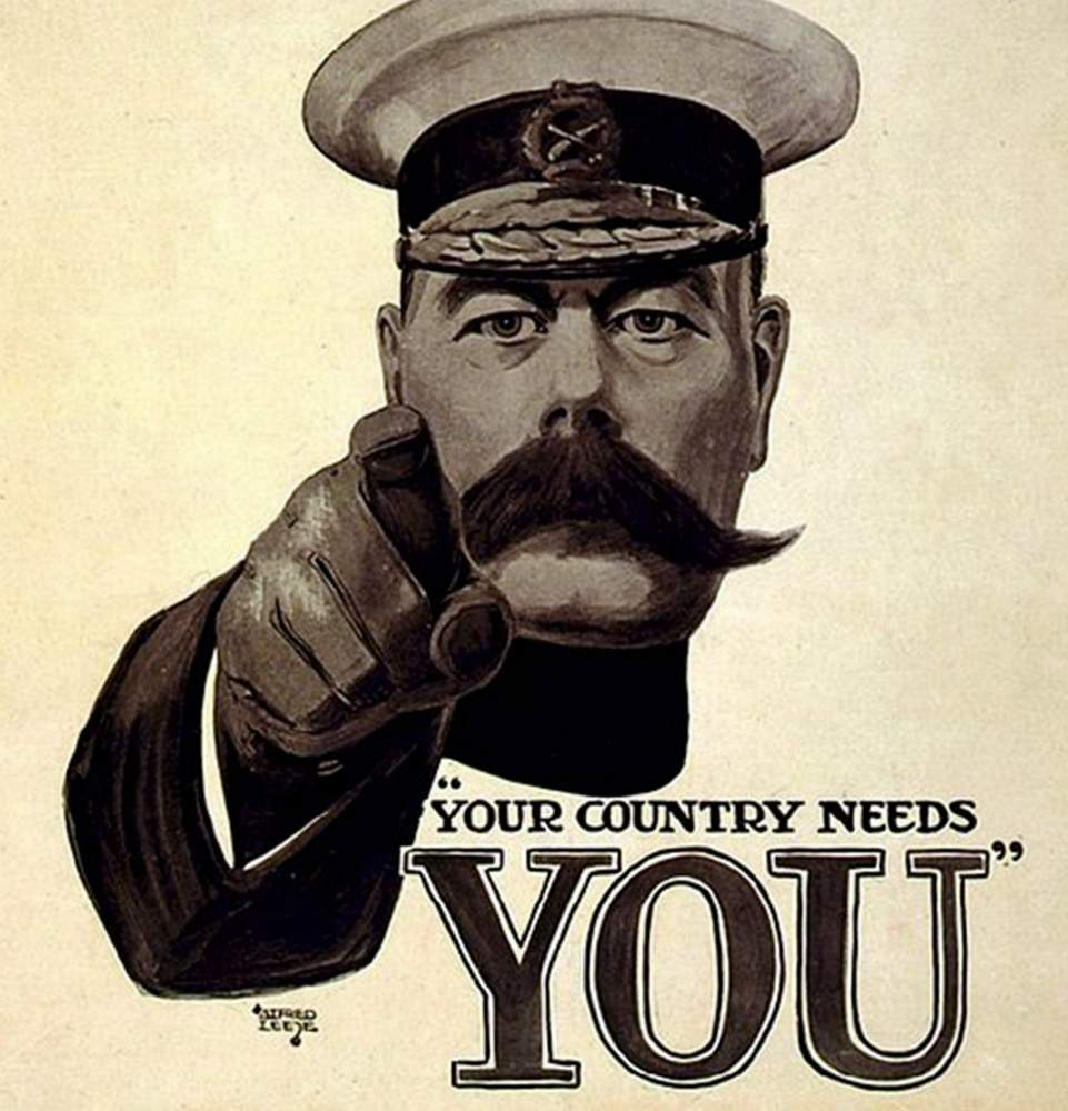 Not everyone answered Lord Kitchener's famous call