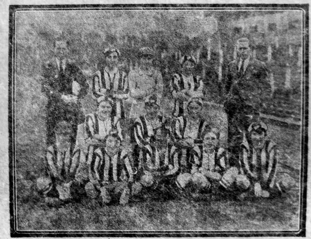 Minnie (bottom right) pictured with her team-mates