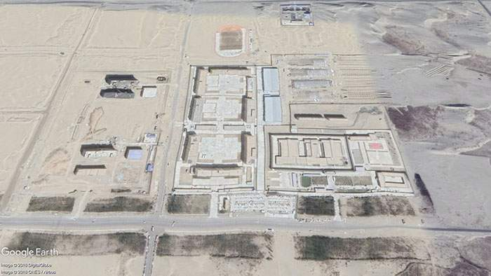 Satellite image of the site in Hotan where Abdusalam says he was held