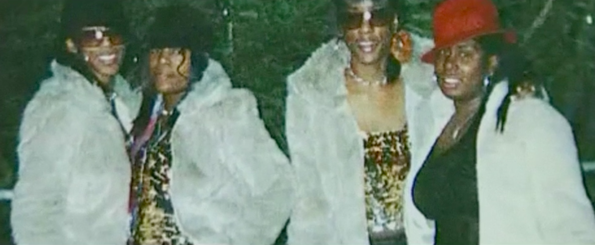 Charlene Ellis, second from left, and Letishia Shakespeare, far right, were killed in the shooting (Picture: BBC Two)
