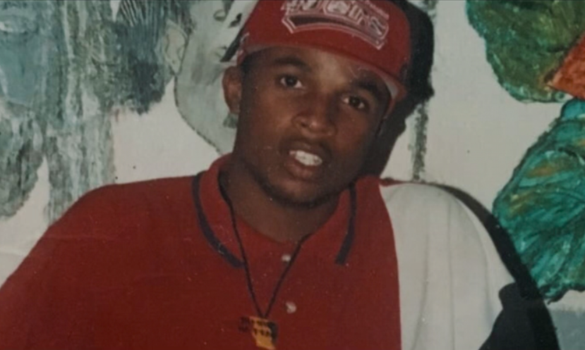 Andrew Huntley, pictured as a young man, was shot in cold blood (Picture: BBC Two)