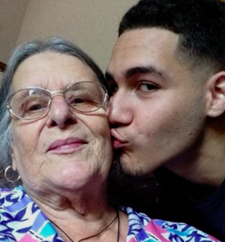 A photo Josh tweeted, with the caption: 'Grandma means the world to me' (Picture: BBC Two)