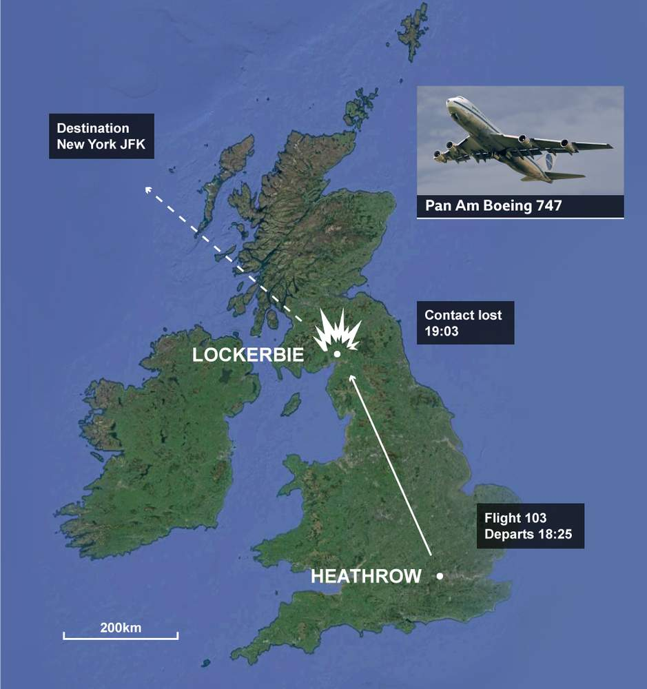 Image result for explosion of pan am flight 103