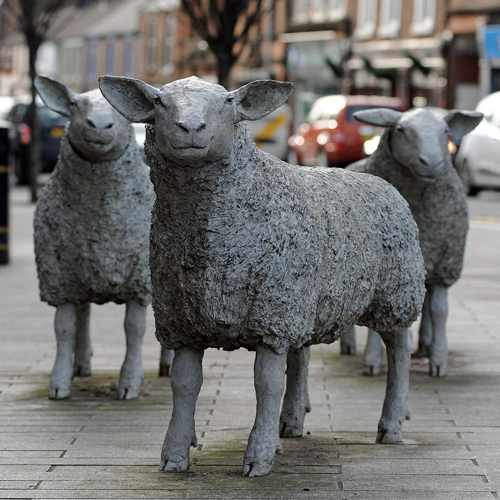 Street sculptures celebrate Lockerbie's connection with agriculture