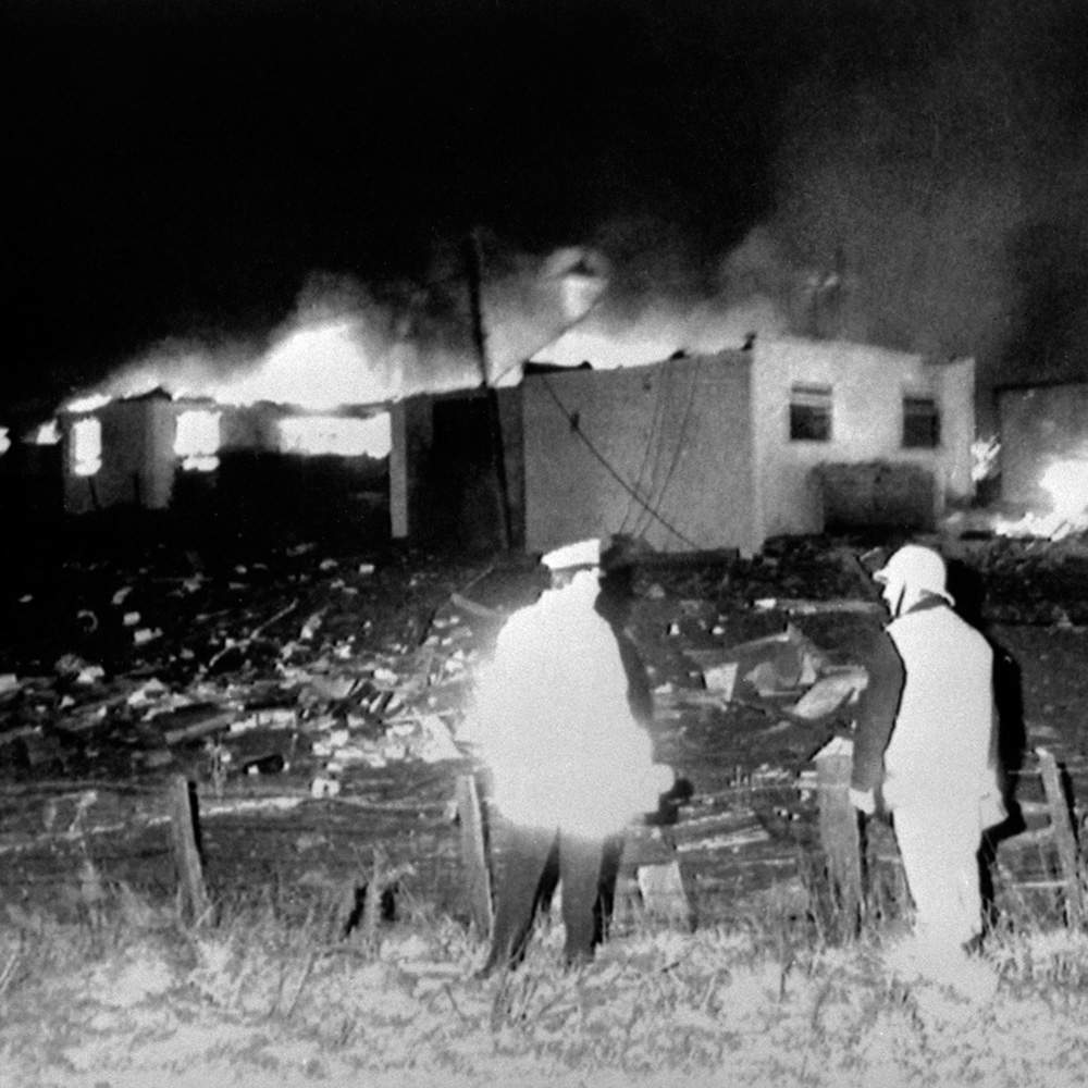 Houses in Sherwood Crescent were destroyed in the explosion
