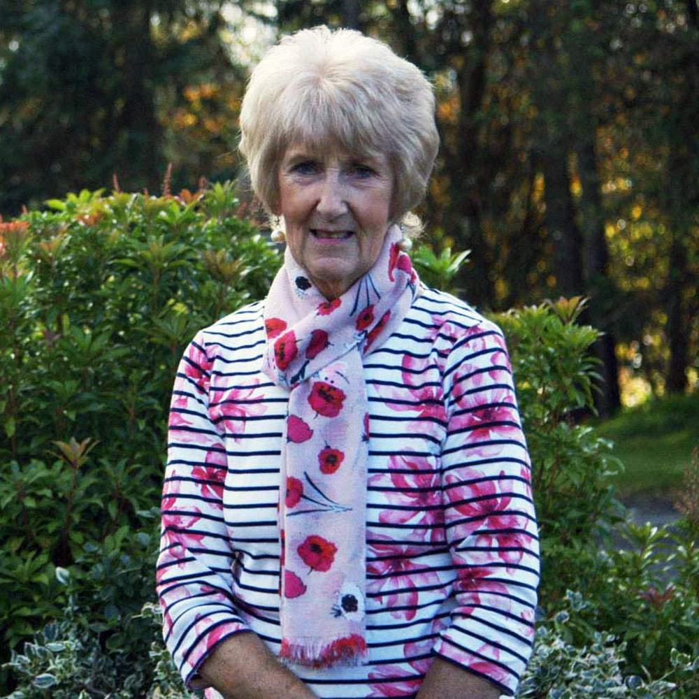 Josephine Donaldson found a girl's handbag in her garden