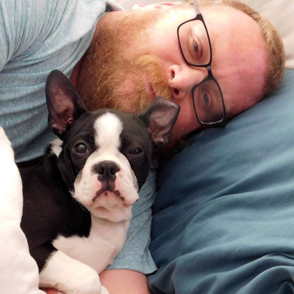 Кристофер Блэр со своей собакой