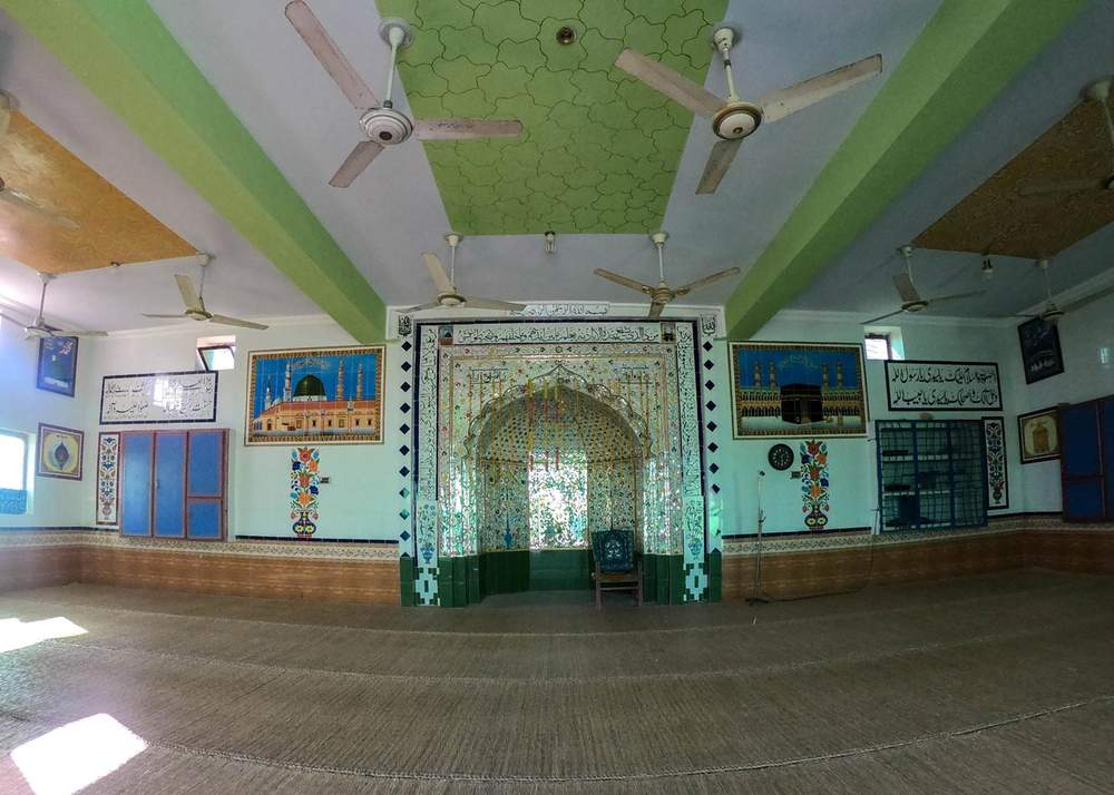 Inside Anwar's mosque