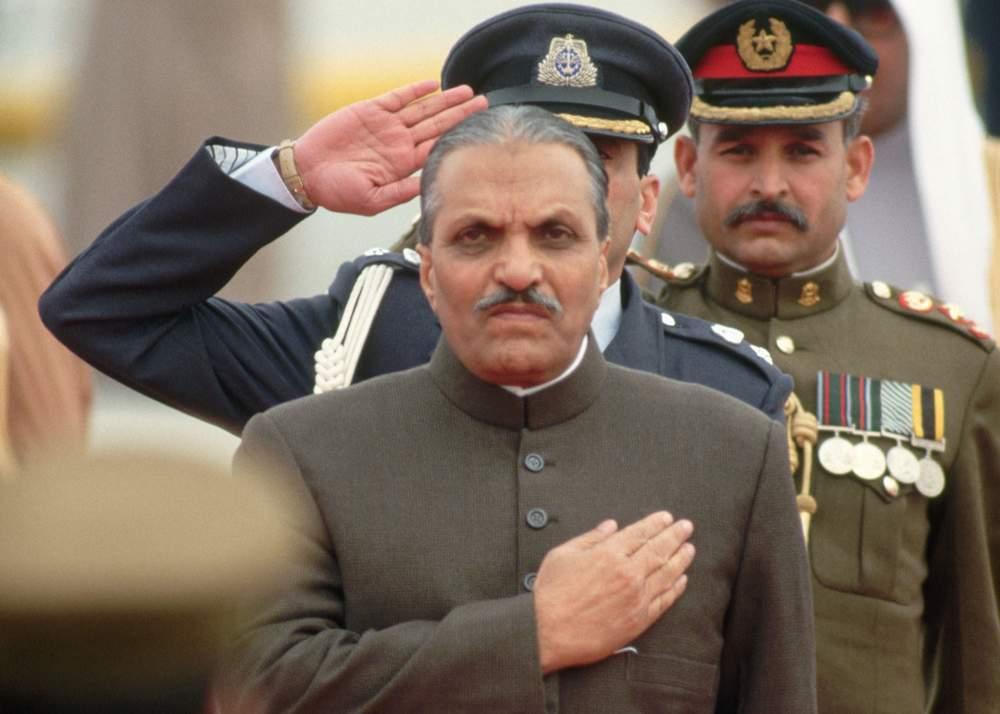 پاکستان کے صدر جنرل ضیا الحق 1987