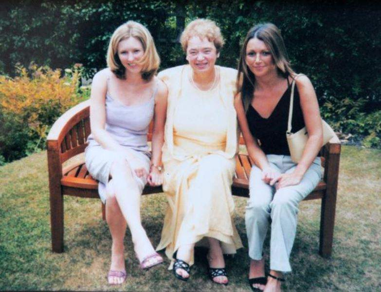Joan with Ali, left, and Claudia