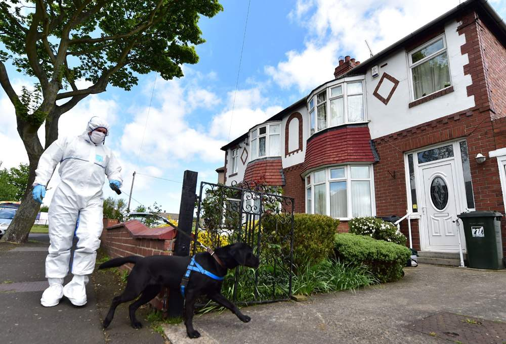 The North Shields house was searched by forensics officers