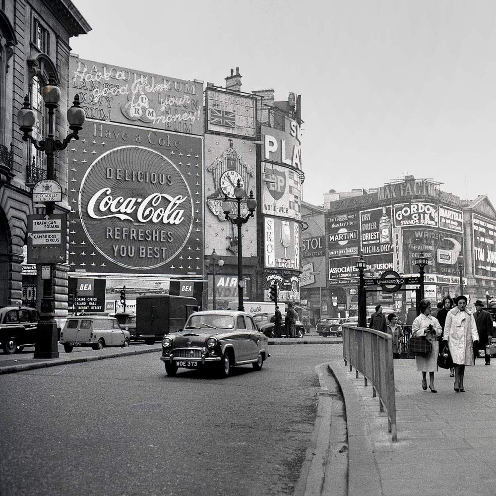 Piccadilly Circus, London, circa 1960